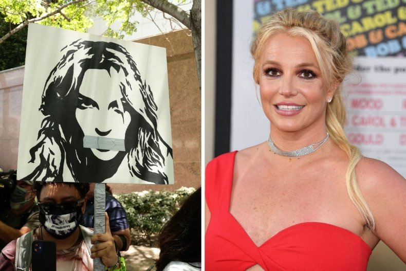 Britney Spear and Free Britney campaigners