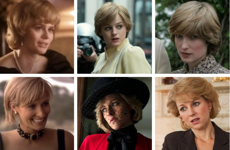 Princess Diana portrayed in film and TV