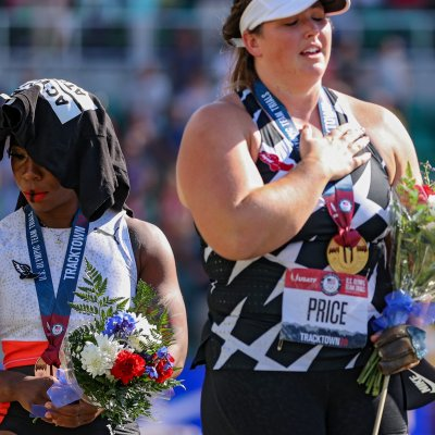 Gwen Berry at the U.S. Olympic Trials