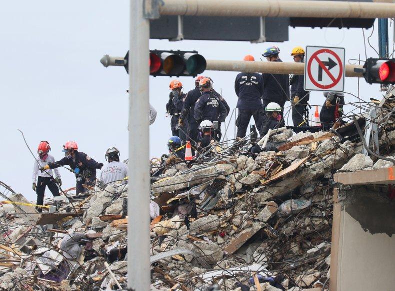 Surfside condo collapse site