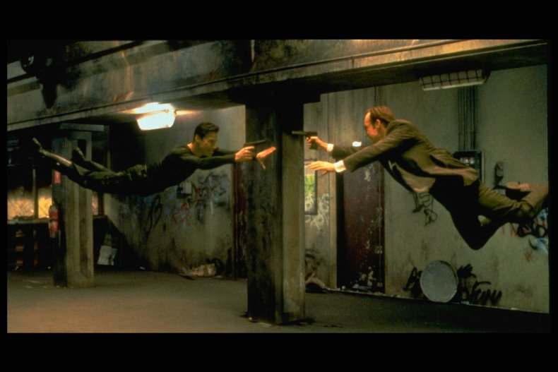Screenshot from movie The Matrix.