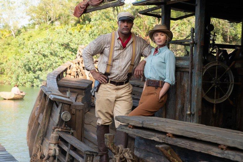 Dwayne Johnson and Emily Blunt Jungle Cruise