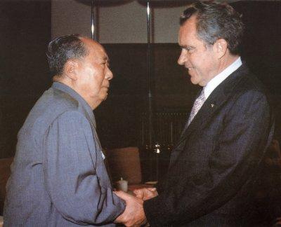Mao Zedong Meets President Richard Nixon