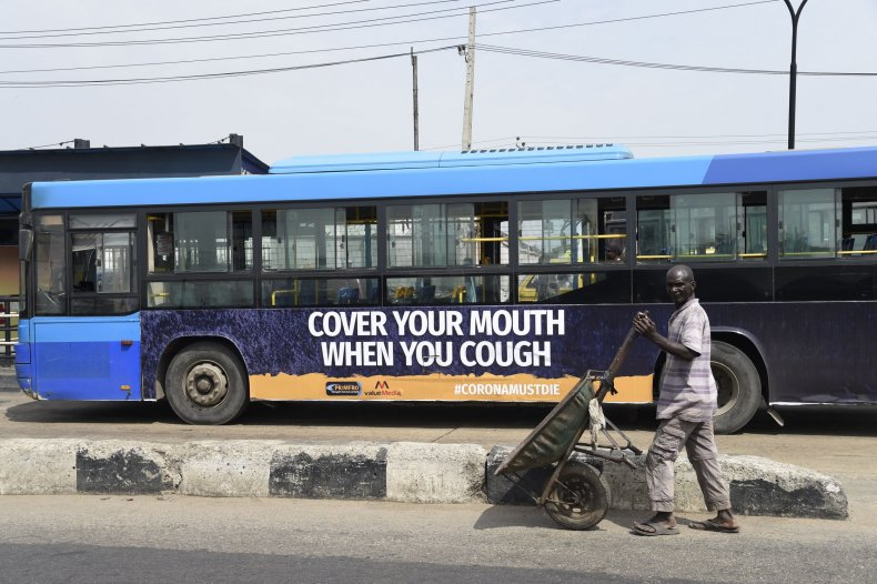 Nigeria 'Cover Your Mouth' Sign