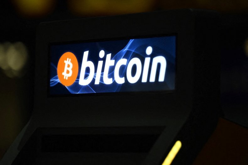 View of a Bitcoin sign