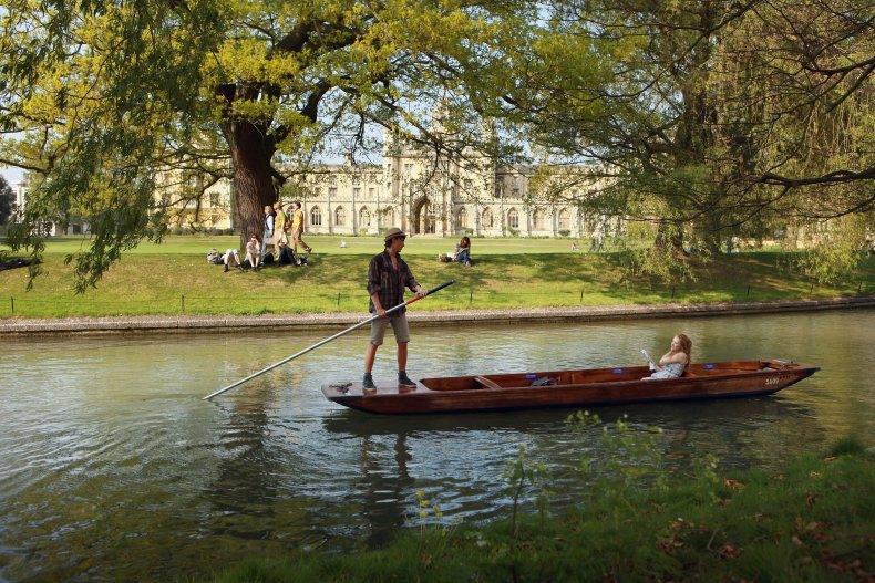 Punting outside Cambridge University