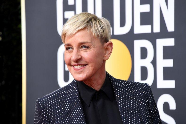 Ellen DeGeneres at Golden Globes