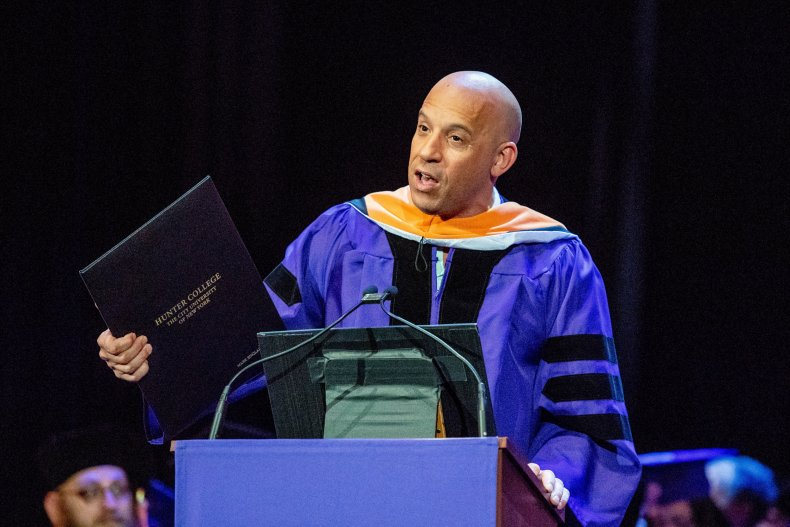 Vin Diesel receives degree from Hunter College
