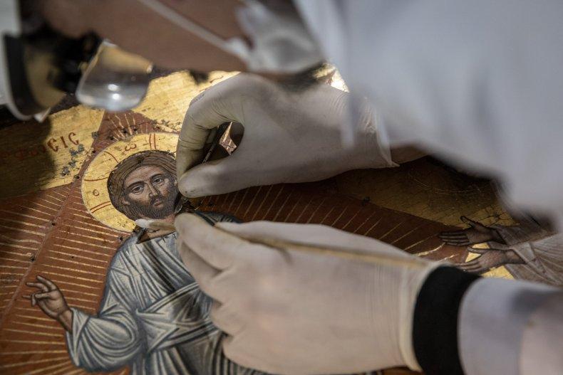 16th century Byzantine Christian icon