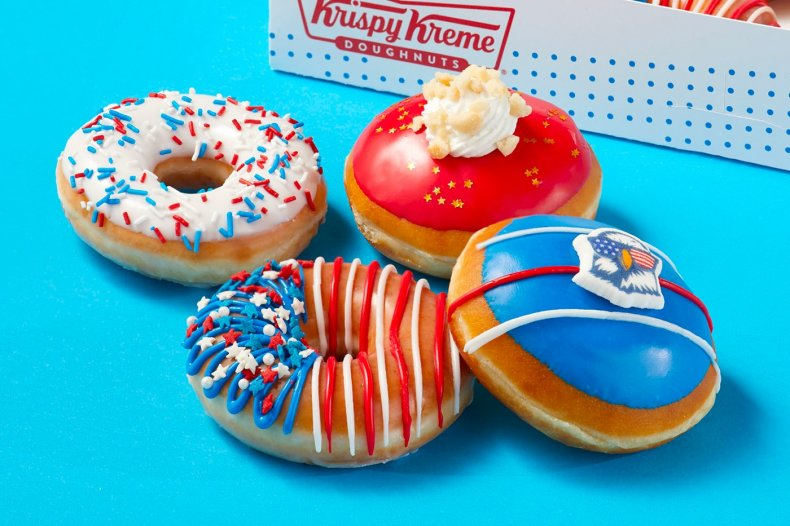 Krispy Kreme July 4 doughnuts