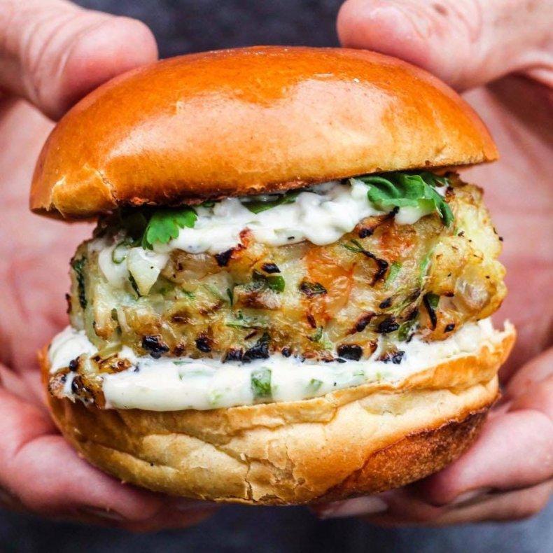 MOB Kitchen smoky fish burger