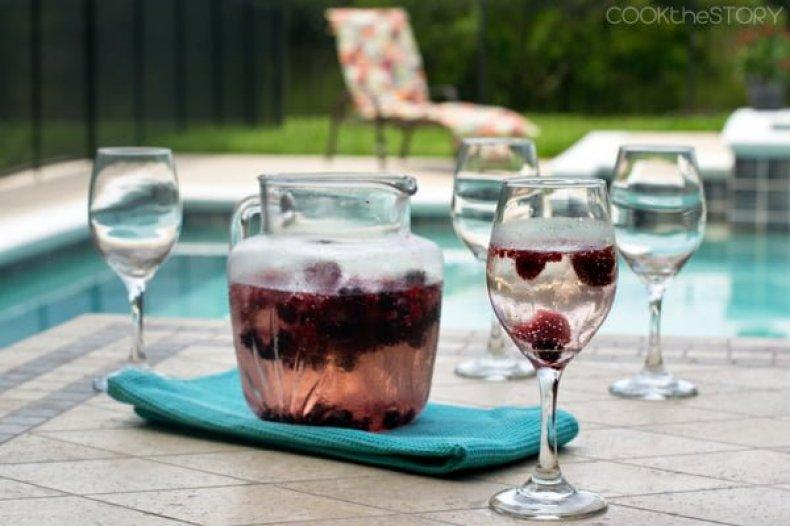 Christine Pittman's berry wine cooler