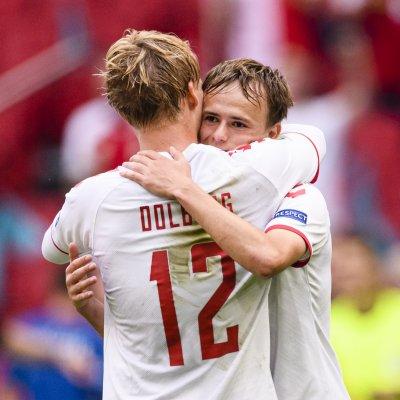 Denmarks forward Kasper Dolberg