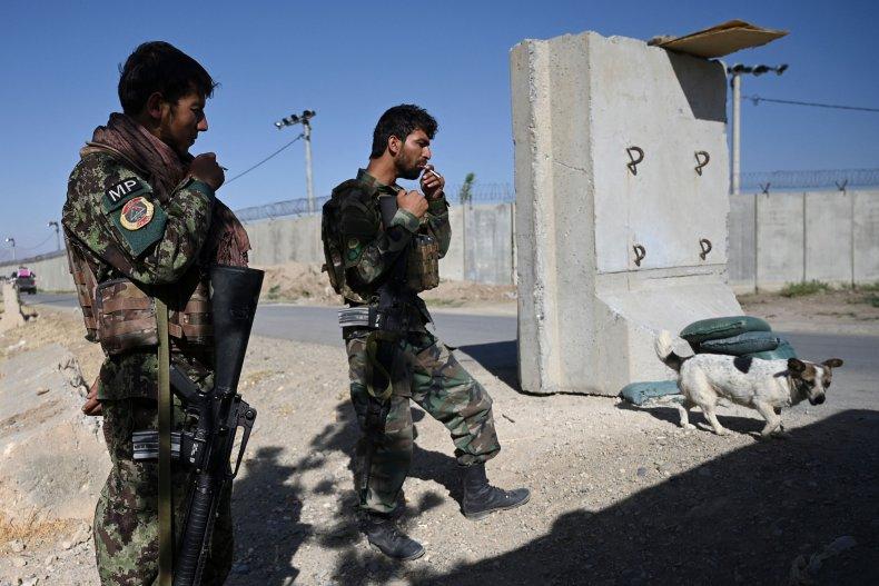 Afghan soldiers in Bagram