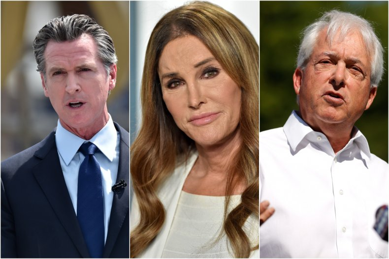 California Gubernatorial Candidates Newsom, Jenner and Cox