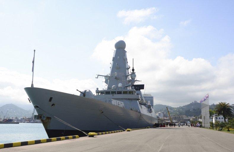 HMS Defender in Batumi, Georgia Black Sea