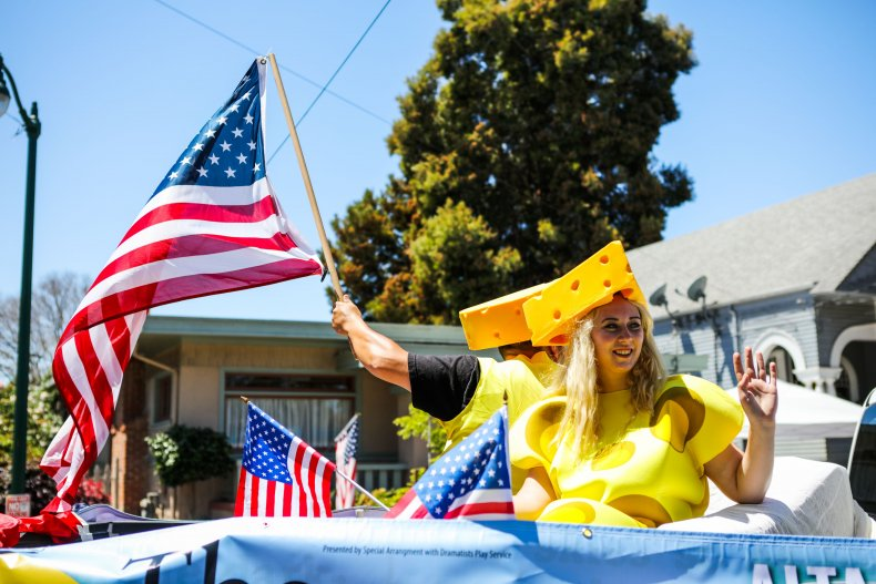 A 2016 July 4 parade in California.
