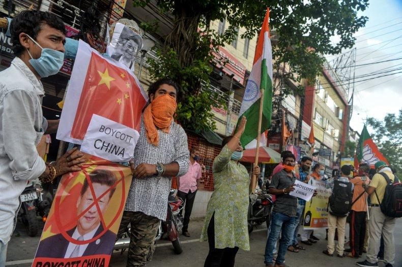 India activists decry China