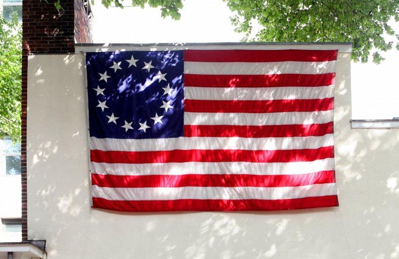 A Betsy Ross flag replica in Philadelphia.