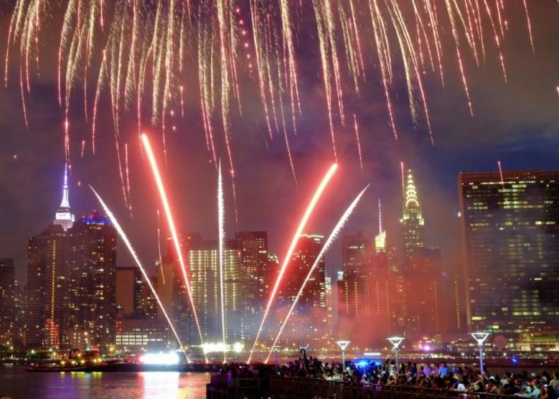 New York City hosts America's biggest fireworks display