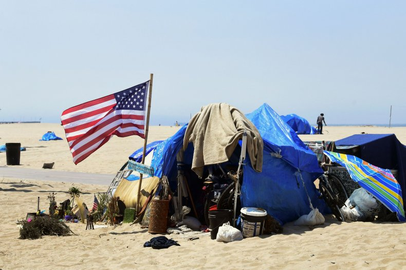 The U.S. national flag hoisted