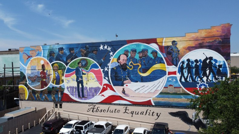 """The """"Absolute Equality"""" mural in Galveston, Texas"""