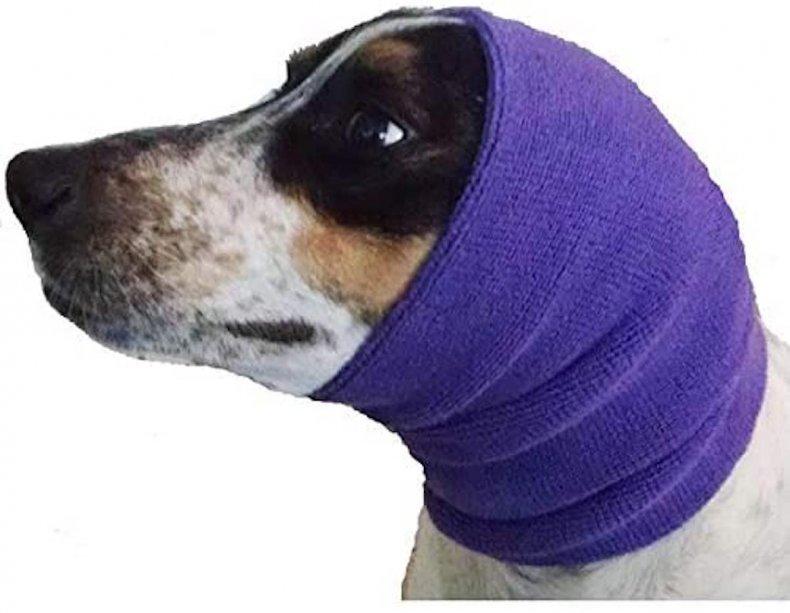 happy hoodie calming cap