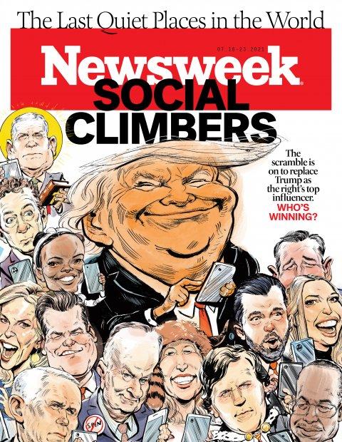 Newsweek Magazine Cover Social Climbers