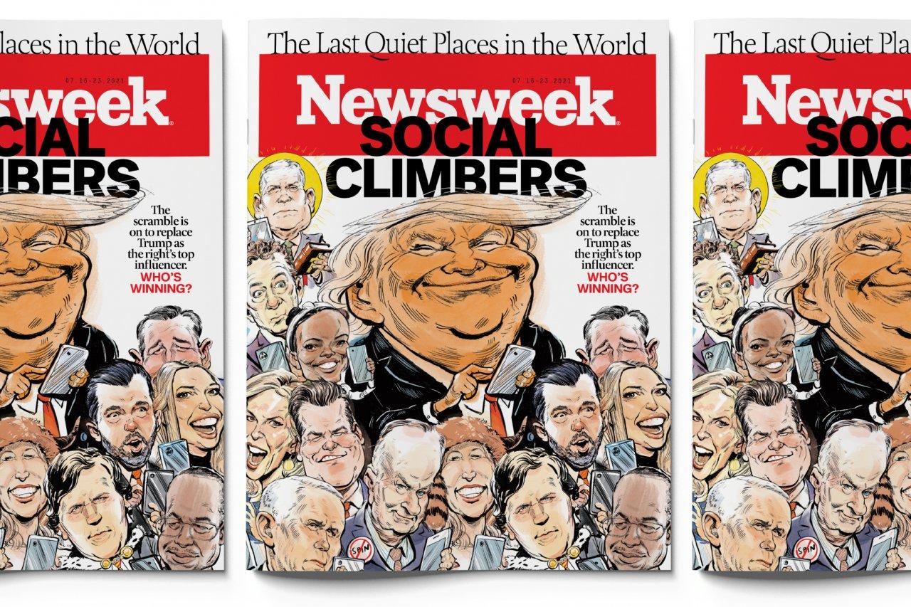 Newsweek Magazine Social Climbers Banner