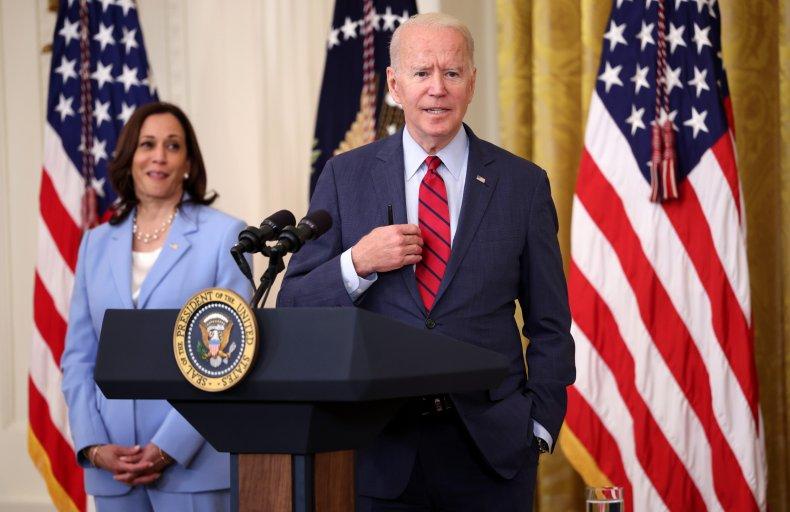 Biden Delivers Remarks with Kamala Harris