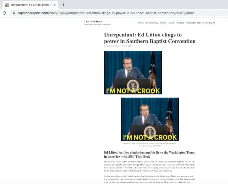 Screenshot of Capstone Report