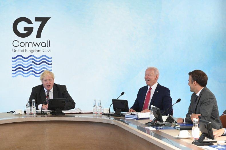 U.S., U.K., French Leaders Attend G7