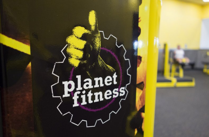 Planet Fitness logo at a gym