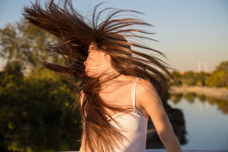 File photo of woman flicking her hair.