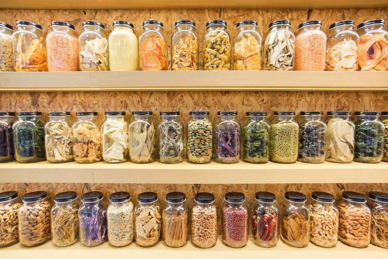 File photo of a stocked pantry.