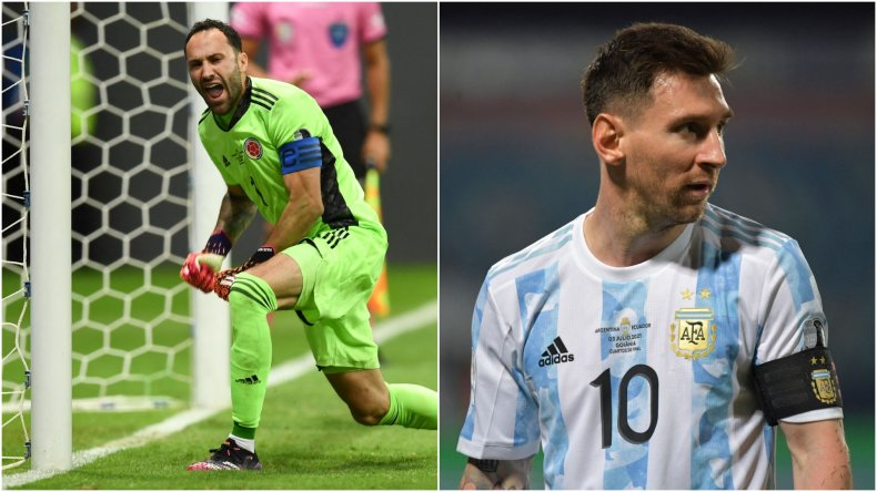 David Ospina and Lionel Messi