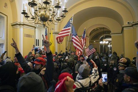 Capitol riot, interior shot