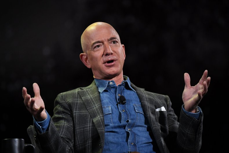 Jeff Bezos Addresses an Audience in 2019