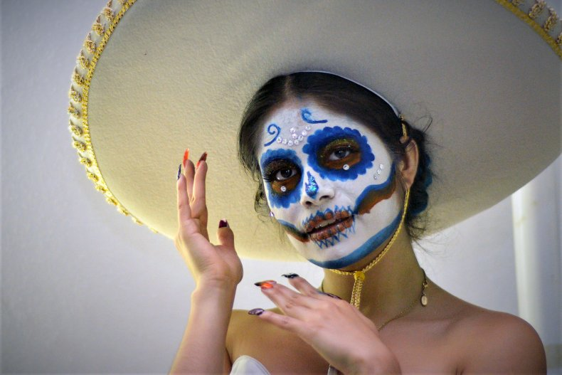 A woman at Mexico's Angela Peralta Theater.