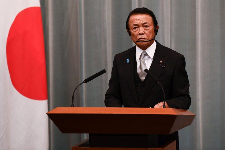 Japan Deputy PM Address Tokyo Press