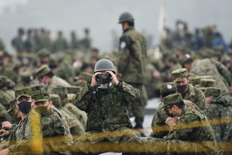 Japan Self-Defense Force In Military Exercise