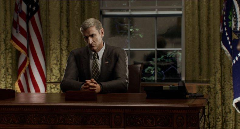 President Graham in Resident Evil: Infinite Darkness