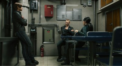 Leon Jason and Shenmei on a Submarine