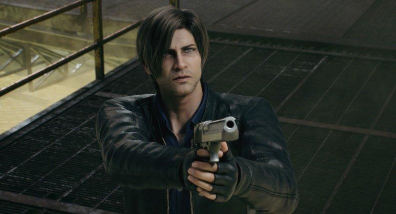 Leon Holding a Gun