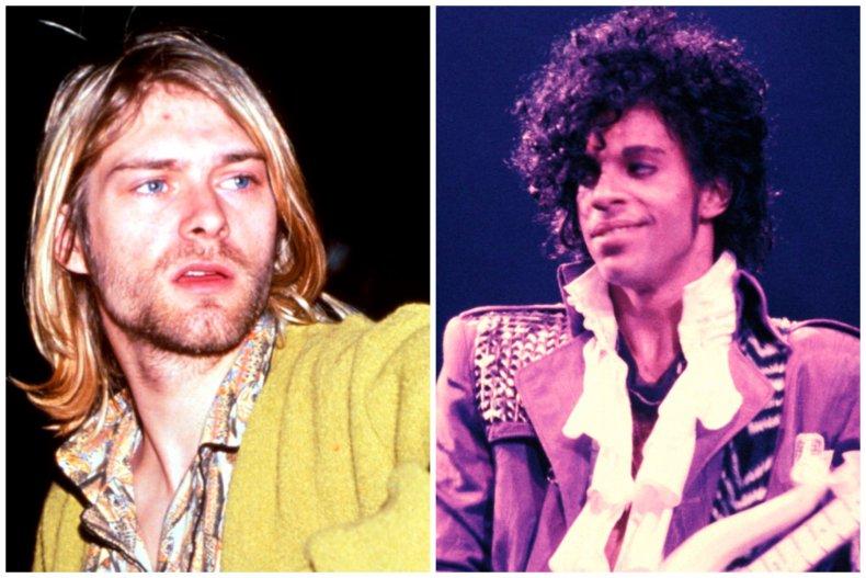 Kurt Cobain and Prince