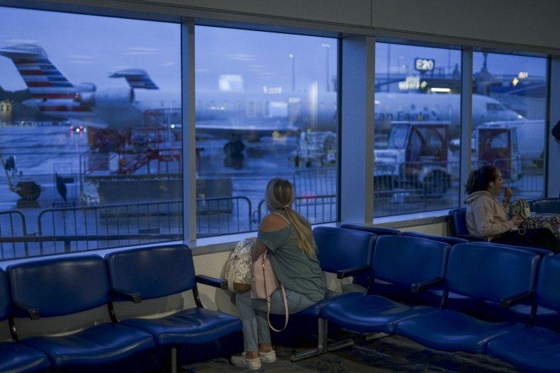 Passenger Waiting at Airport