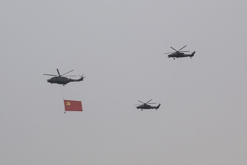 Chinese Military Does Fly-By Amid CCP Celebrations