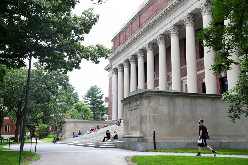 The campus of Harvard University in Cambridge,