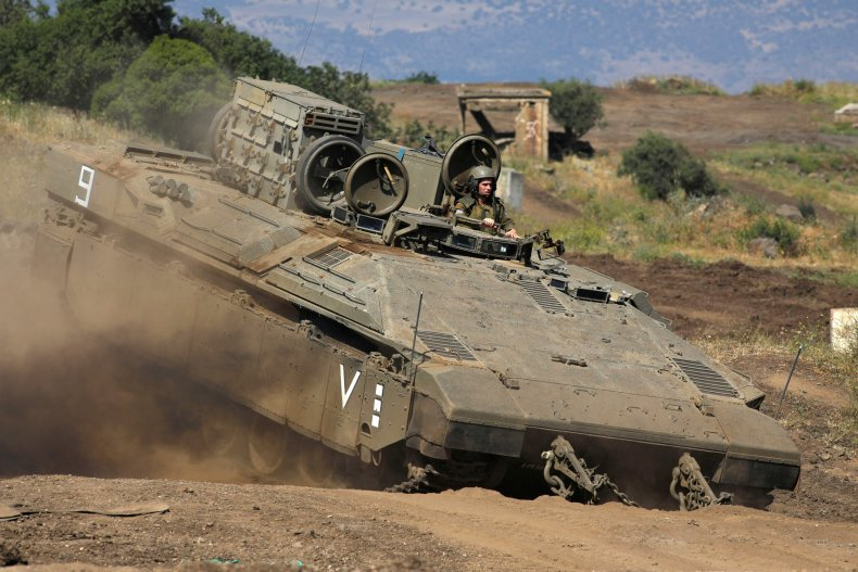 Israeli soldiers from the Golani Brigade take