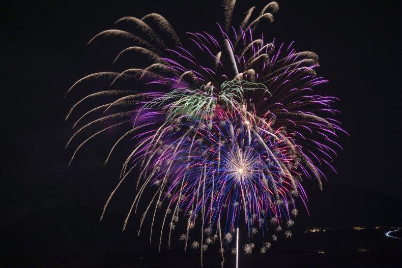 Viral video firework hits building starting fire